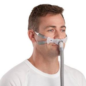 Die Resmed Swift FX Bella Gray Schlafmaske zur Nutzung einer CPAP-Beatmung